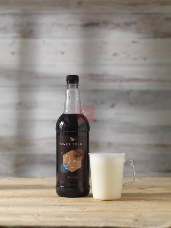 Chai syrup latte