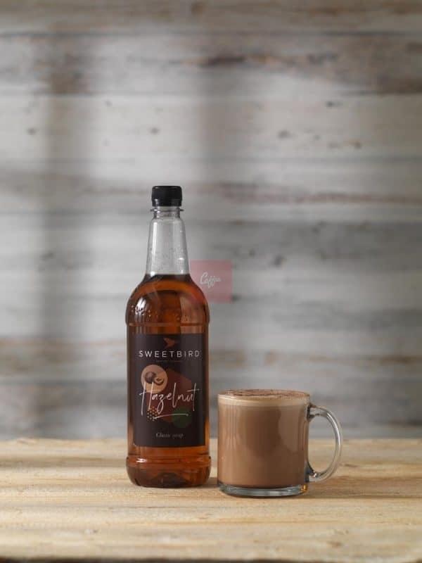 Hazelnut syrup hot chocolate