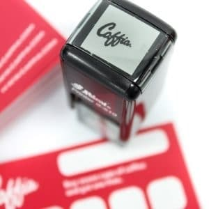 Caffia Coffee Self Inking Stamp