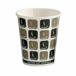 Mocha Single Wall Paper Cup 1