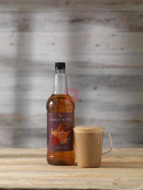 Pumpkin Spice syrup latte