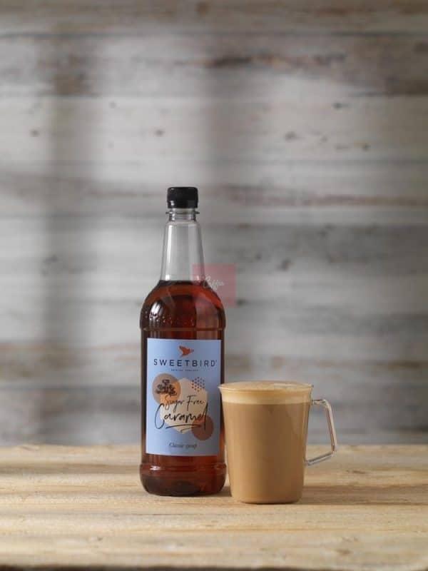 SF Caramel syrup latte e1626950838565