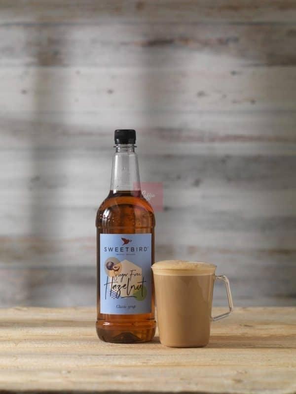 SF Hazelnut syrup latte