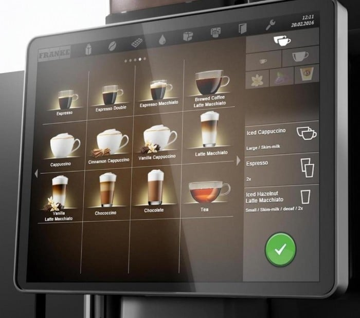 Touch Screen Coffee Machine