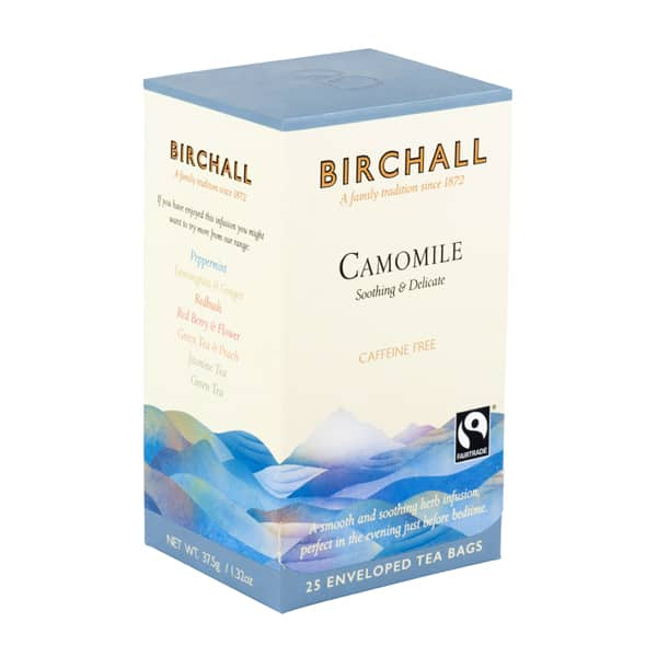 birchall camomile 25 enveloped tea bags side top 600x600 1