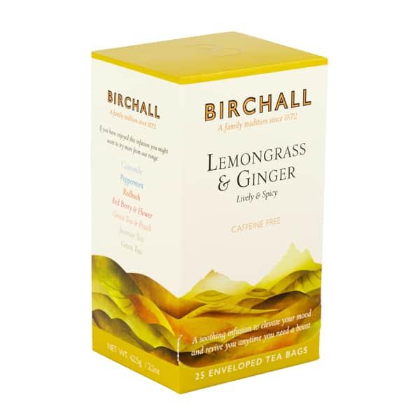 birchall lemongrass ginger 25 enveloped tea bags side top 600x600 1
