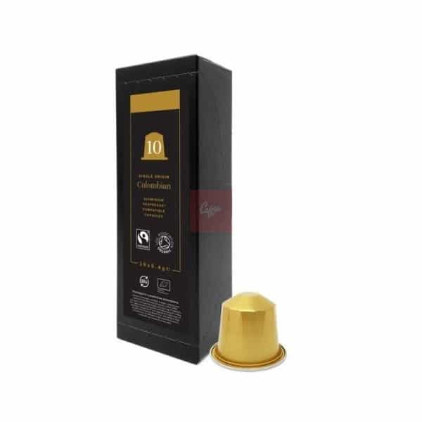 colombian organic and fairtrade nespresso compatible pods